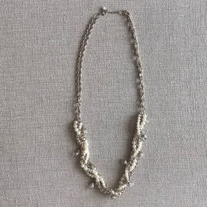 Banana Republic Mixed Jewel & Pearl Long Necklace